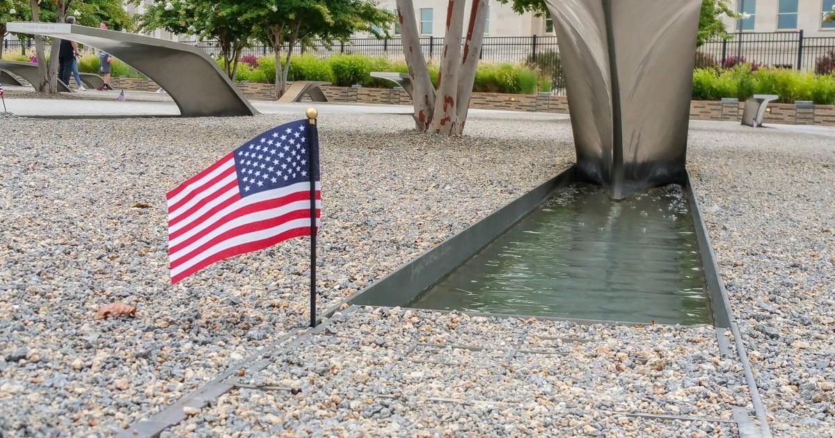 Pentagon Memorial Flag   Russwurm